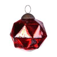Ptmd Christbaumschmuck Diamant Aus Glas Rot 8 Cm Haus Und Gartchen