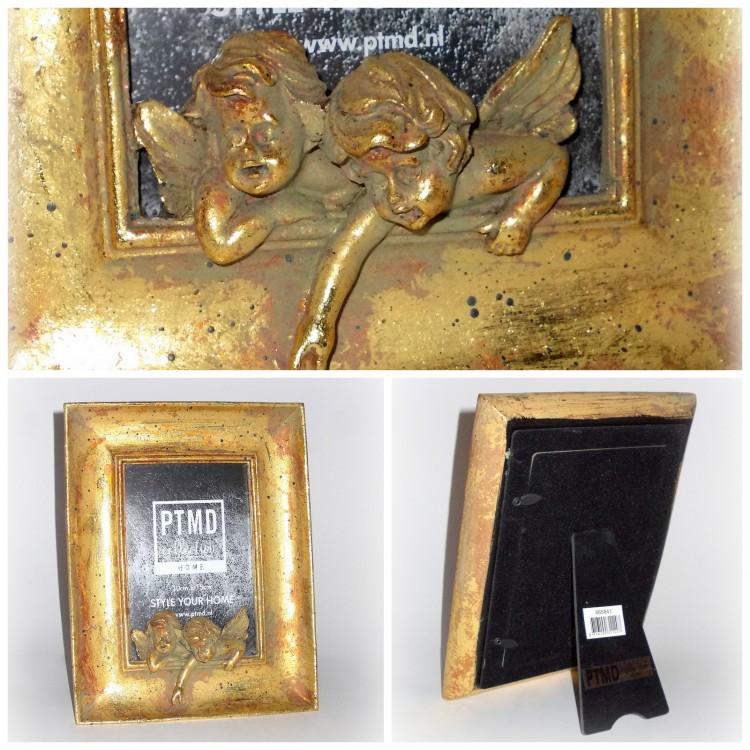 PTMD Bilderrahmen \'Engel\' aus Aluminiumguss gold - Haus und Gärtchen