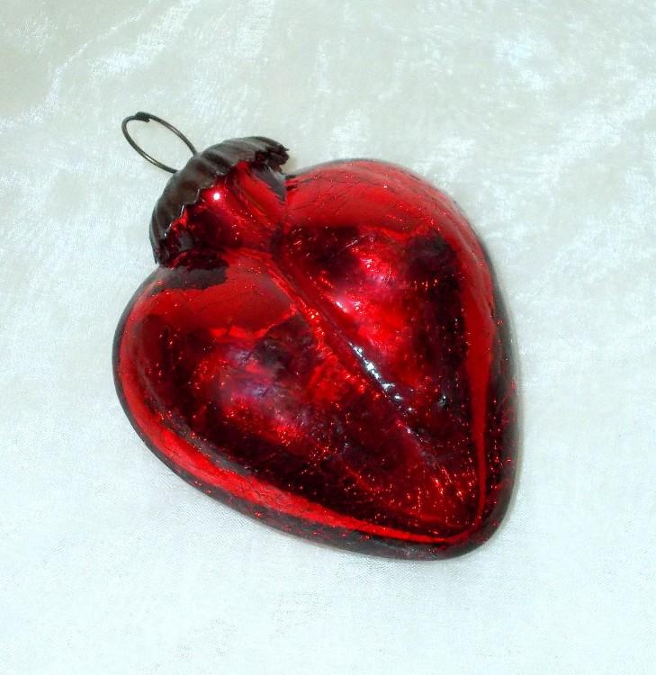 Dekohanger Herz Aus Glas Antikrot 9 Cm Haus Und Gartchen