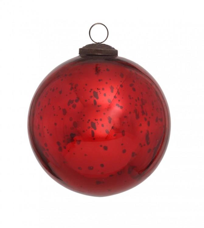 Christbaumkugeln 12 Cm Durchmesser.Ptmd Christbaumkugel Aus Glas Rot 12 Cm Haus Und Gartchen