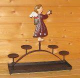 Kerzenhalter 'Engel' aus Metall 48 cm-CAS