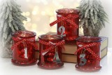 Windlicht 'Advent' aus Glas 4er-Set